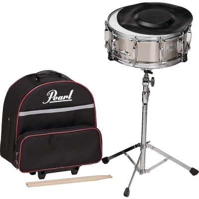 """Pearl SK900 14x5.5"""" Steel Snare Drum Kit with Case"""