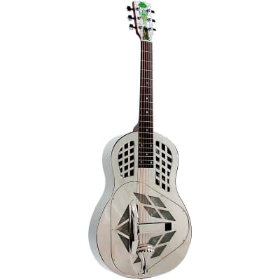 Regal Tricone Resophonic Acoustic Guitar Nickel-Plated Brass Metal Body for sale