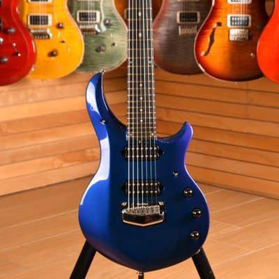 Music Man John Petrucci Signature Majesty 7 Corde Ebony Fingerboard Kinetic Blue NEW 2019 for sale