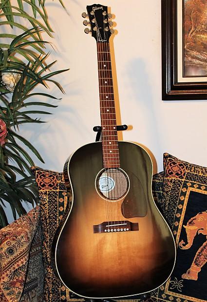 2014 gibson j 45 standard acoustic electric guitar smooth reverb. Black Bedroom Furniture Sets. Home Design Ideas