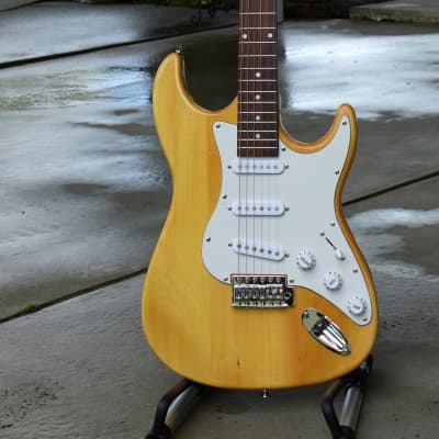Natural Maple Wood Electric Guitar (a real beauty, see video) for sale