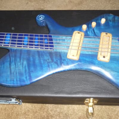 Luxurious handmade 5 strings blue fanned bass ,preorder now,