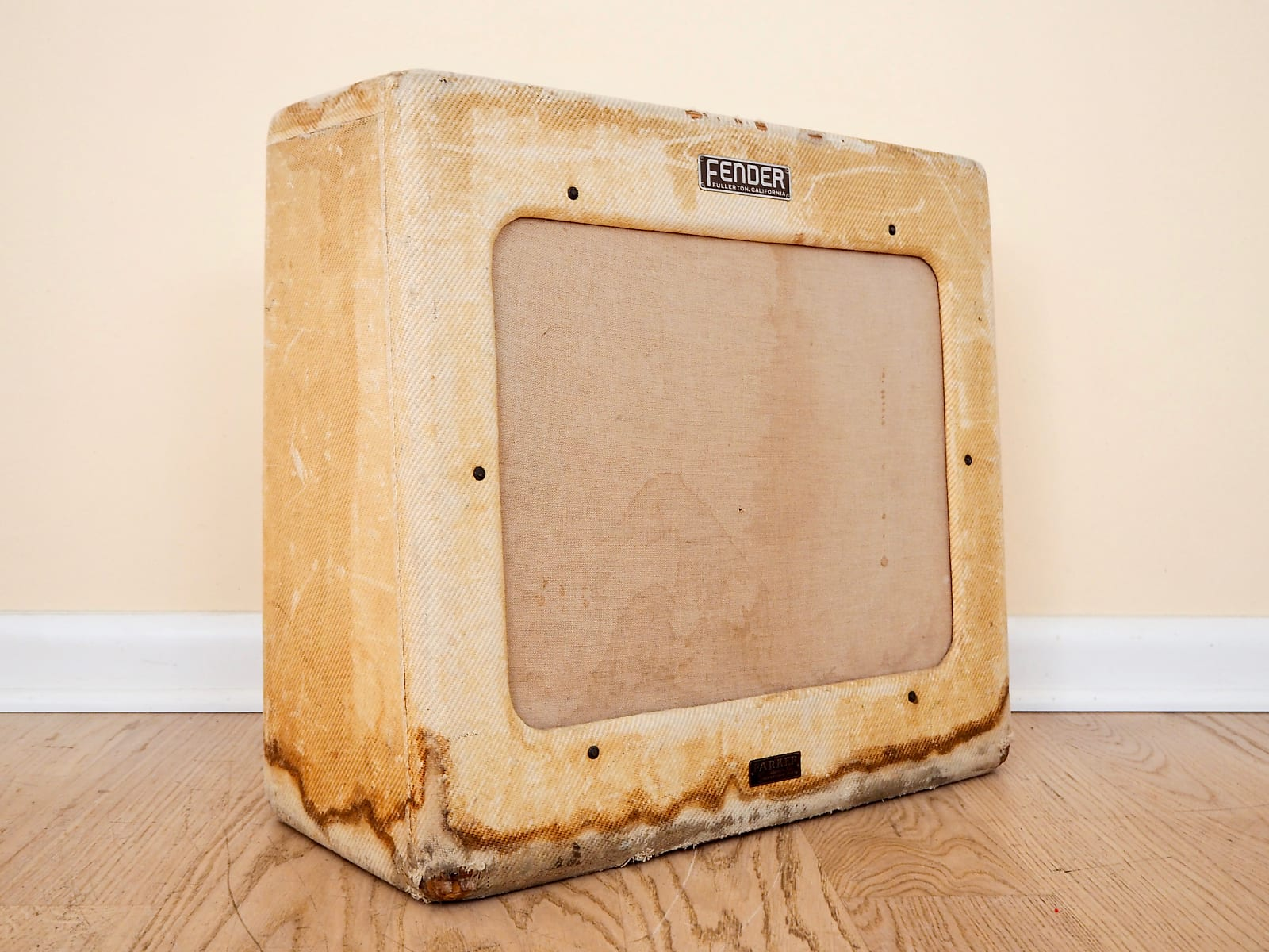 1950 Fender Pro TV Front Tweed Vintage Tube Guitar Amplifier 1x15, w/ RCA 6L6GC
