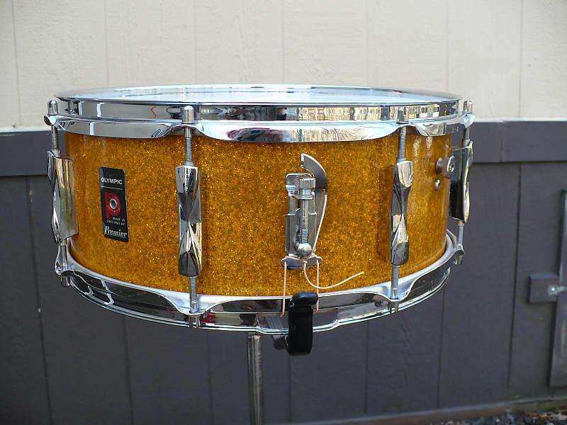 premier olympic 1973 gold sparkle snare drum clean reverb. Black Bedroom Furniture Sets. Home Design Ideas