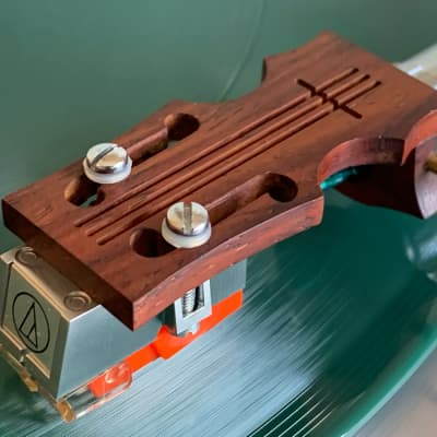 Audio-Technica AT13Ea Phono Cartridge Exotic Wood Stradivarius Headshell Phonograph Gramophone Hi-Fi Stereo Audiophile