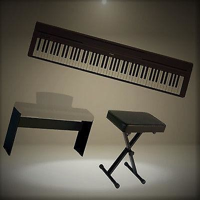 yamaha p45. yamaha p45 digital piano deluxe bundle with furniture stand and bench