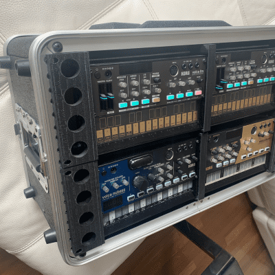 Korg Volca 3D-printed custom rack mounts (x3)