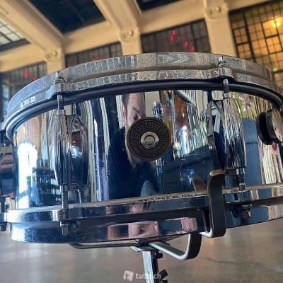 """Gretsch Round Badge 4160 Chrome Over Brass 14x5"""" 8-Lug Snare Drum 1961 - 1971"""