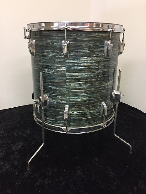 Ludwig 16 x 16 floor tom 1966 blue oyster pearl reverb for 16 floor tom