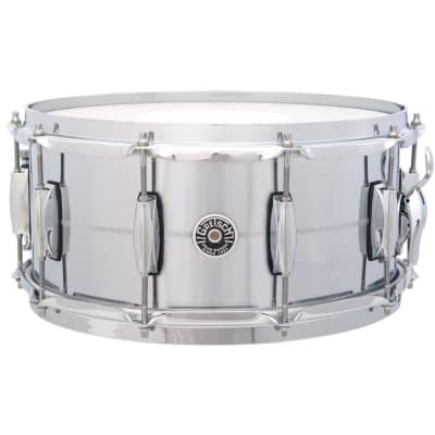 "Gretsch GB4164 Brooklyn Chrome Over Brass 6.5x14"" 10-Lug Snare Drum"