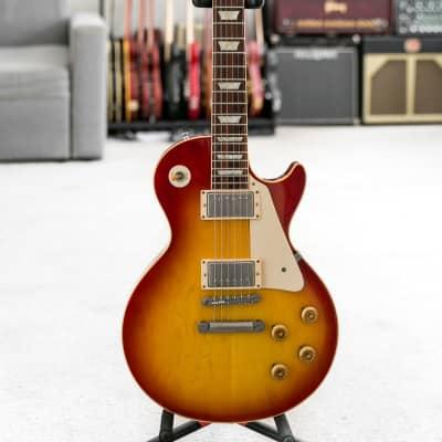 2009 Gibson Custom Shop 1958 reissue Les Paul R8 VOS Washed Cherry Plain Top