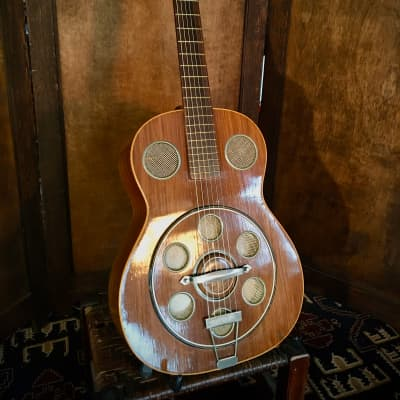 Vintage DEL VECCHIO DINAMICO Rare Resonator Guitar for sale