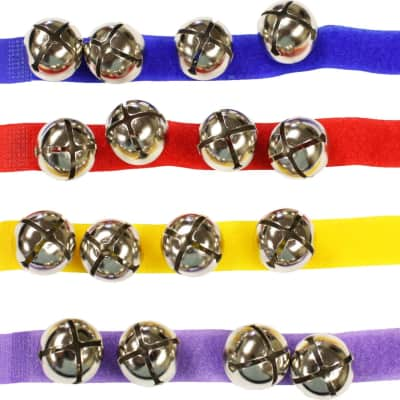 Colored Asstmt 12 Wrist Bells/Velc