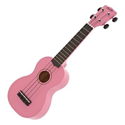 Freshman Pacific UKEPKS1 Soprano Ukulele - Pink for sale