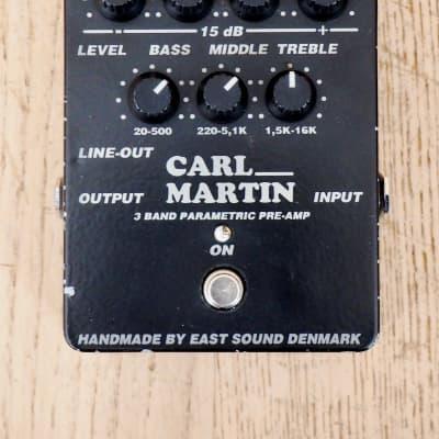 Carl Martin 3 Band Parametric Pre-Amp EQ Balanced Line Driver Effects Pedal for sale