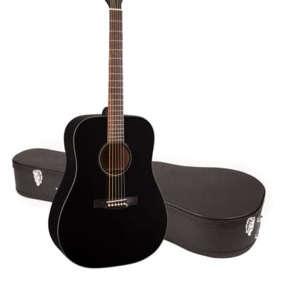 Jasmine by Takamine JD93-BLK Black Dreadnought Acoustic Guitar with CASE for sale