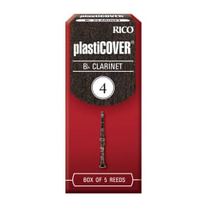 Rico RRP05BCL400 Plasticover Bb Clarinet Reeds - Strength 4.0 (5-Pack)