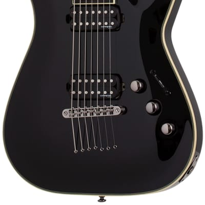 Schecter 2564 C-7 Blackjack Black Gloss Electric Guitar