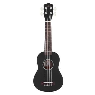Glarry UK101 21inch Soprano Rosewood Fingerboard Basswood Ukulele Black for sale
