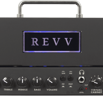 REVV D20 20-Watt Guitar Amp Head with Two Notes Torpedo-Embedded Reactive Load & Virtual Cabinets for sale