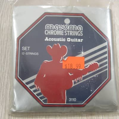 Maxima 3110 Chrome 12-String Set Acoustic Guitar Strings for sale