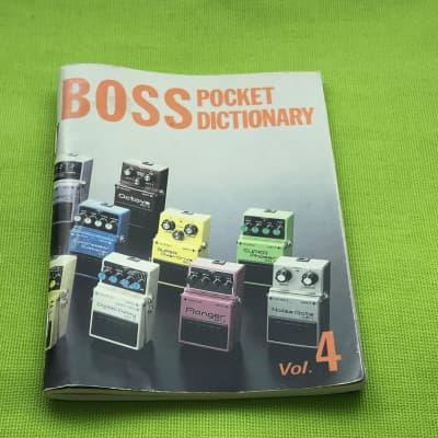 Boss pedal Brochure pocket dictionary DM-3 delay etc