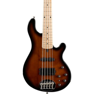 Lakland Classic 55-14 Maple Fretboard 5-String Electric Bass Guitar Regular Tobacco Sunburst for sale
