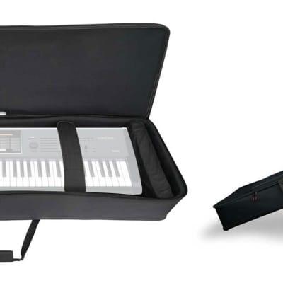 Rockville 61 Key Keyboard Case w/ Wheels+Trolley Handle For Korg Kronos X 61