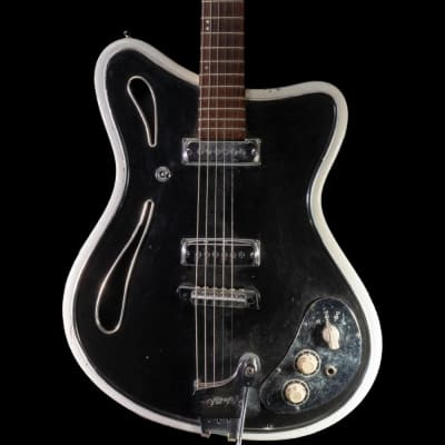 Hopf Saturn 63 Electric Guitar in Black & White, Pre-Owned for sale