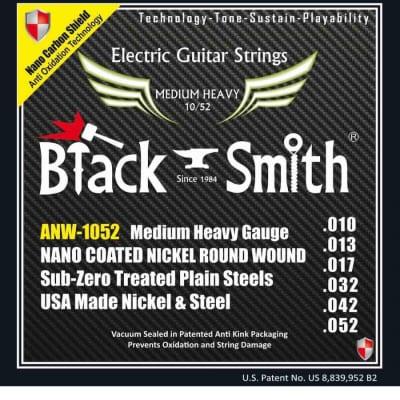 Black Smith électrique 10-52 coated - Jeu de cordes guitare électrique for sale