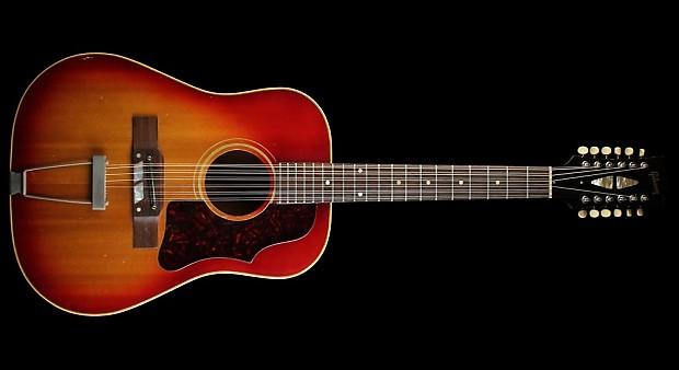 1963 gibson vintage b45 12 12 string acoustic guitar sunburst reverb. Black Bedroom Furniture Sets. Home Design Ideas