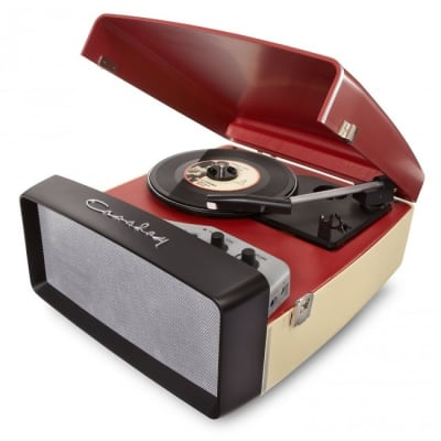 Crosley Collegiate USB-Enabled 3-Speed Turntable with Software Suite for Ripping and Editing Audio (Red & Cream)