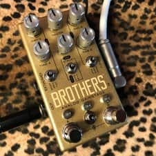 Chase Bliss Audio Brothers Gold Overdrive Boost Fuzz multi drive pedal of Love