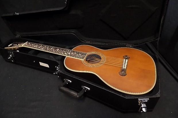 Washburn R320swrk Vintage Parlor Acoustic Guitar Case Reverb