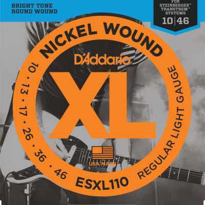 D'Addario ESXL110 Nickel Wound Electric Guitar Strings Regular Light Double Ball End 10-46