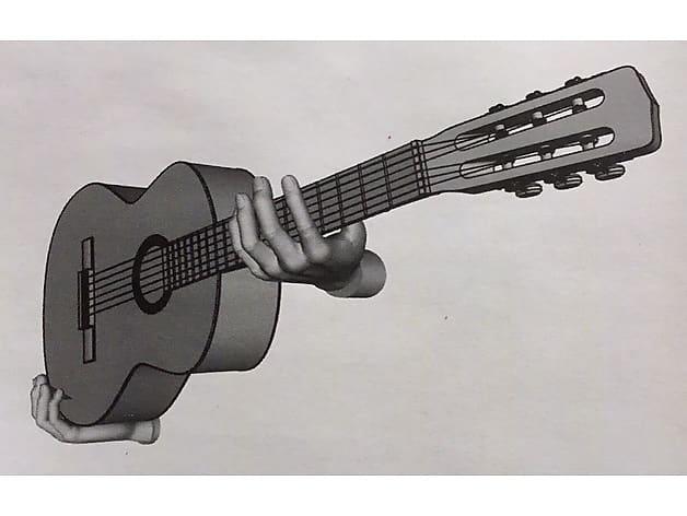 m3is3d hands horizontal sideways guitar wall mount hanger reverb. Black Bedroom Furniture Sets. Home Design Ideas