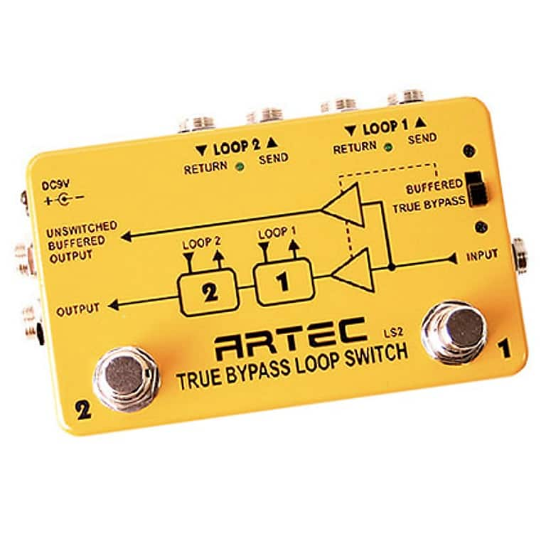 Artec LS2 Dual Channel /True Bypass Loop Switch Nice Fast, | Reverb