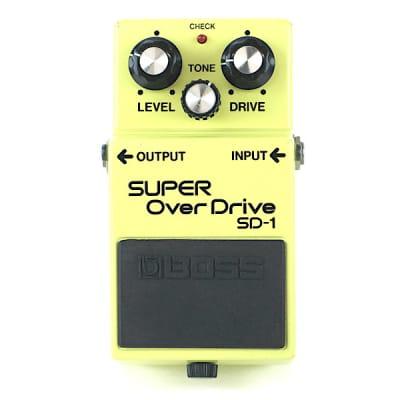 Boss SD-1 Super OverDrive (Black Label) 1985 Made In Japan MIJ Excellent