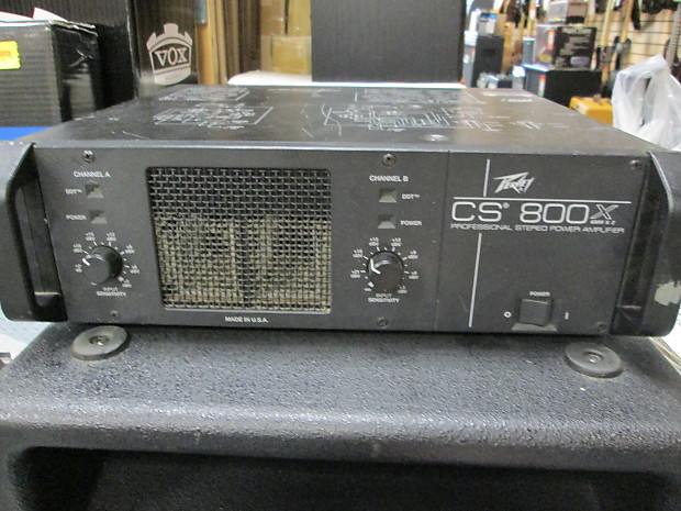 Peavey cs 800 hook up