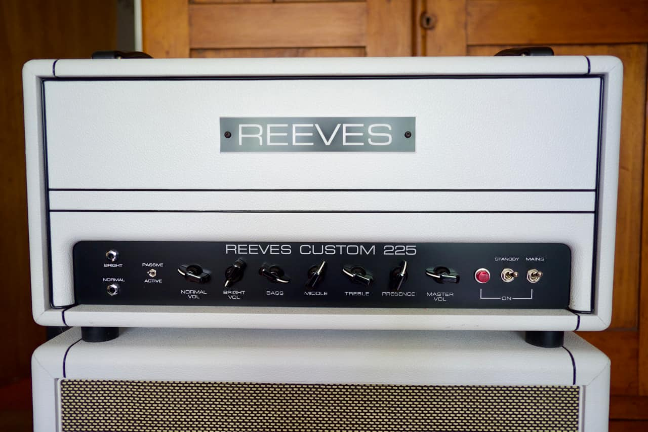 Reeves Custom 225 All Tube Bass Amp Head White Tolex | Reverb