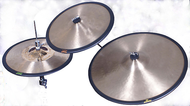 cymbal mutes cymgard lites 4 pack odds 13 15 17 and reverb. Black Bedroom Furniture Sets. Home Design Ideas