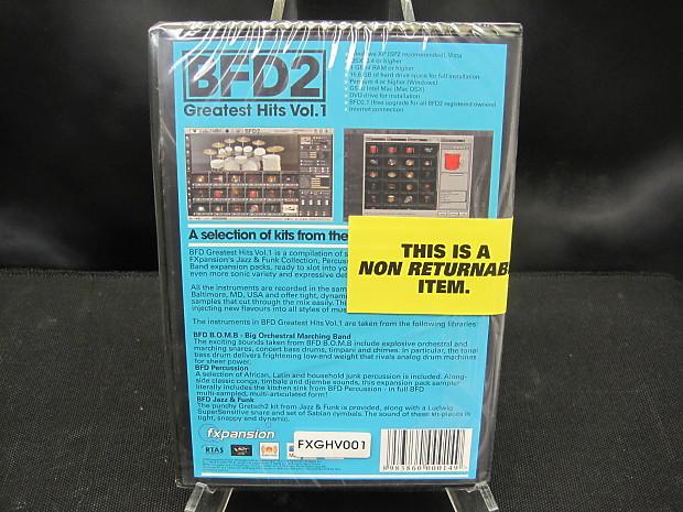 FXpansion BFD2 Greatest Hits Vol  1 | Sam Ash Margate, FL