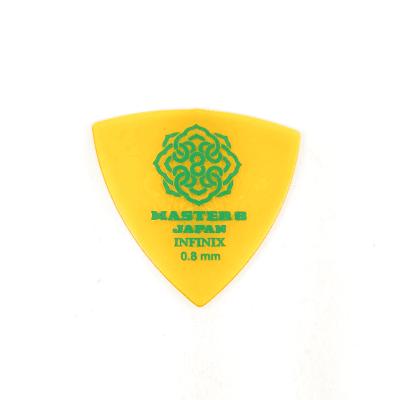 Master 8 INFINIX Hard Polish Grip Guitar Picks 0.8mm Triangle Medium 6-Pack