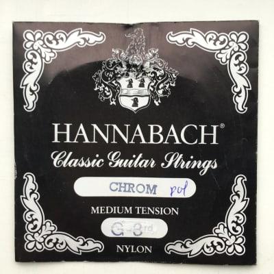 Hannabach 875 Classic Guitar - Chrome Polished 3rd string (g)