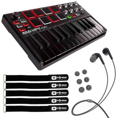 Akai MPK Mini MKII MK2 25-Key USB MIDI Keyboard MPC Pad Controller Black
