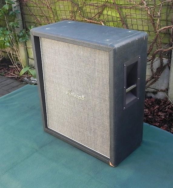 Vintage 1969 Marshall Basketweave 2x12 Speaker Cab Cabinet Plexi Era Red