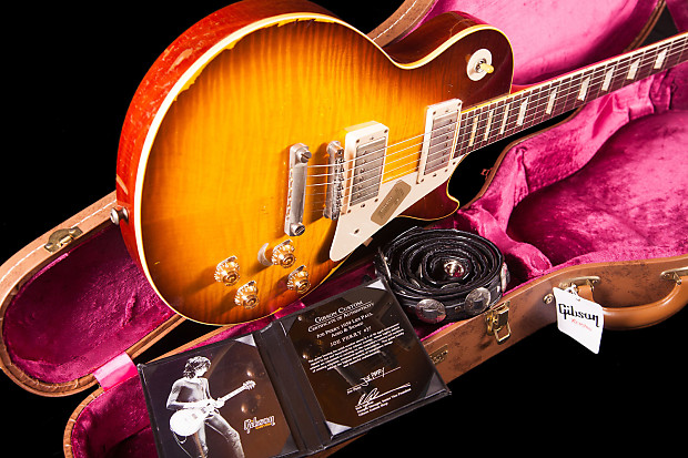 gibson les paul joe perry aged and signed reverb. Black Bedroom Furniture Sets. Home Design Ideas