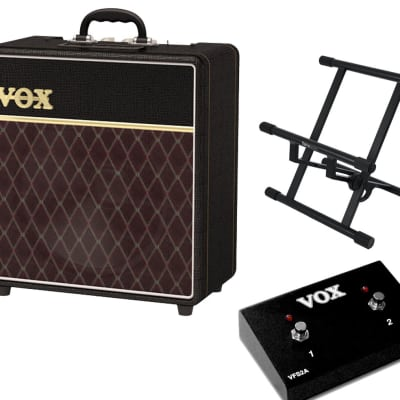 Vox AC4C1-12 + Gator Frameworks Amp Stand + Footswitch for sale