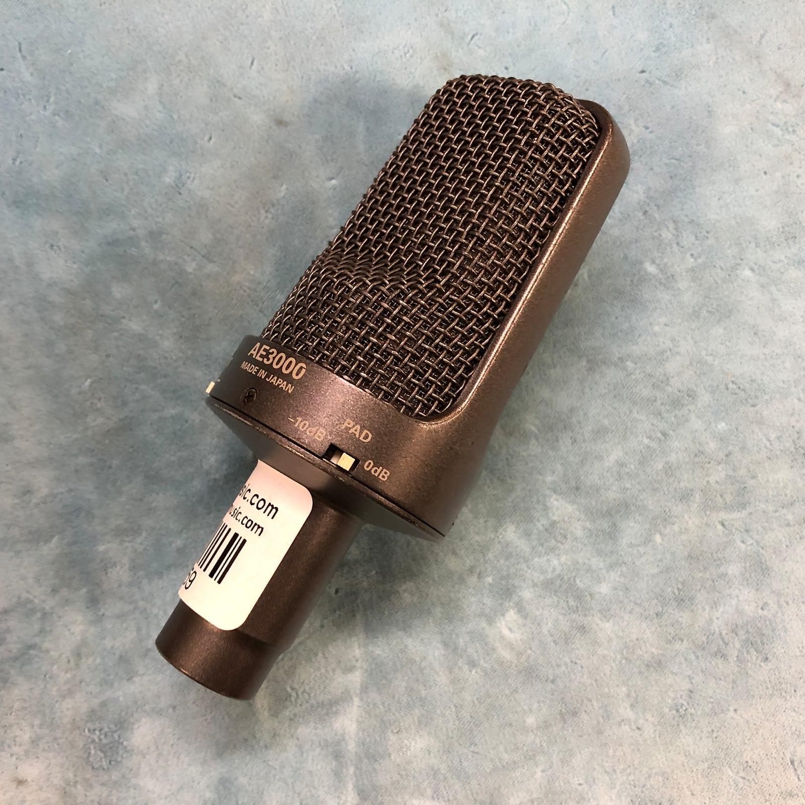 Audio-Technica AE3000 Large-Diaphragm Condenser Microphone w/ Clip