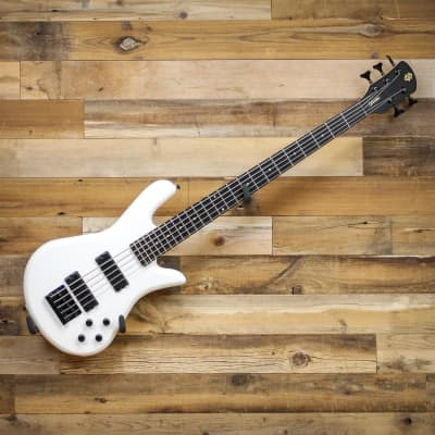 Spector PERF5WH Performer 5 5-String Electric Bass Guitar White Gloss for sale